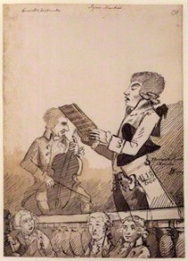 by John Nixon, pen and ink and brown wash, 1789